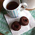 Muffins au chocolat et coeur caramel