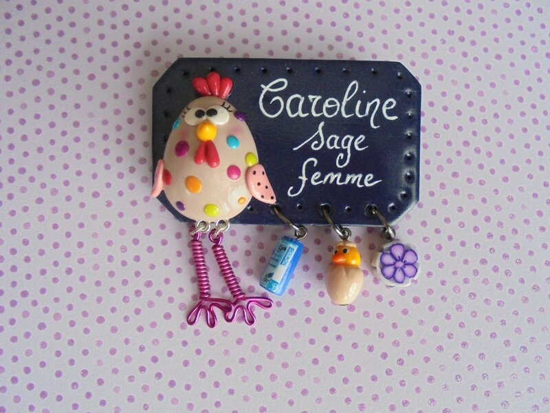 badge poule varicelle multicolor