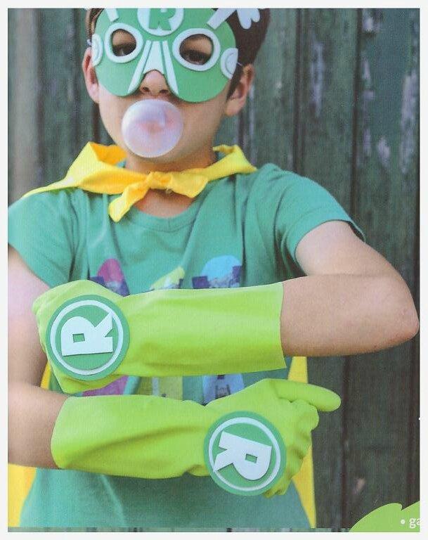 tenue de super héros bricolage enfant