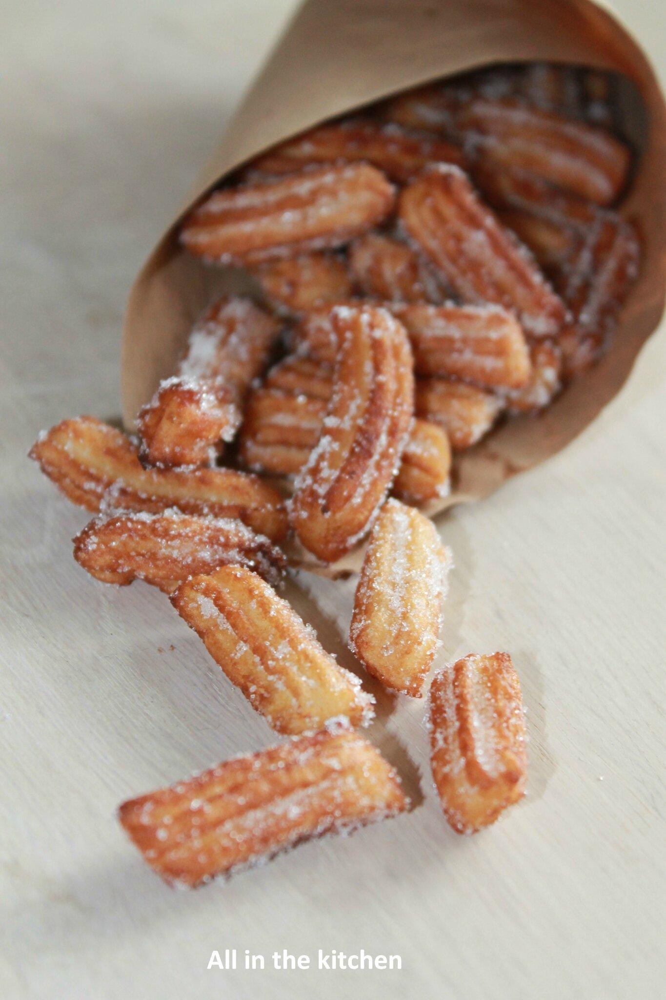 Recette Churros De Fete Foraine mini chichi, grande gourmandise (churros) - all in the