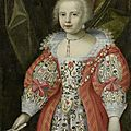 Attributed to british school, 17th century, portrait of a young girl, c.1625-35