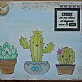 2 cartes avec des cactus ...