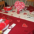 table de la st Valentin