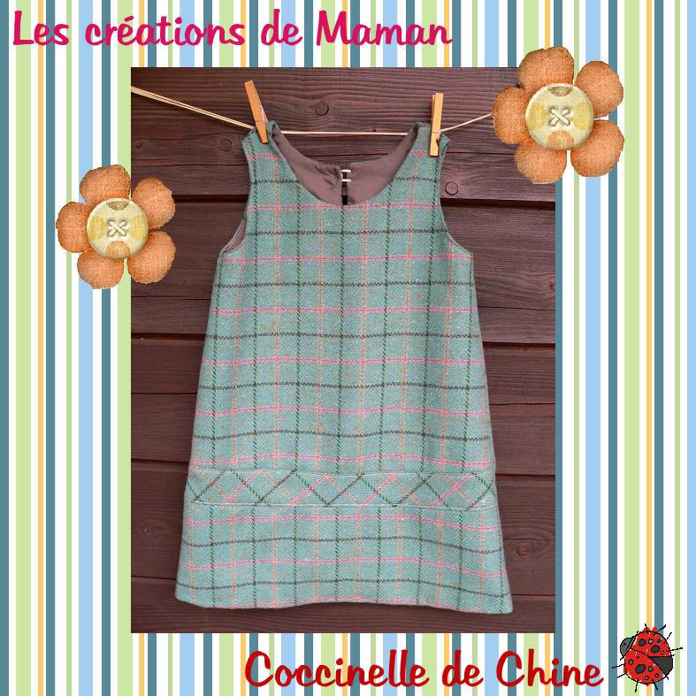 Robe en lainage Catimini (patron maison) en taille 6 ans