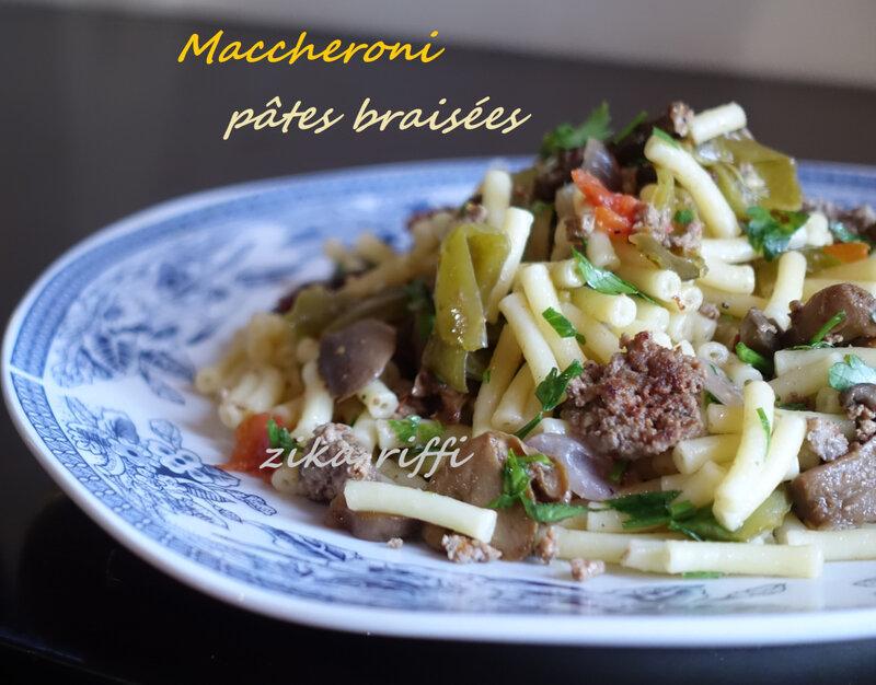 pâtes maccheroni 1