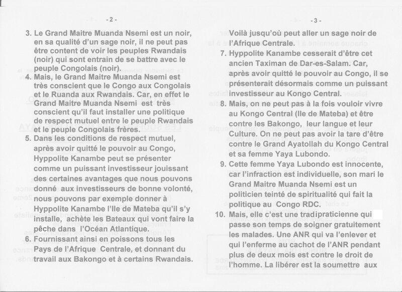 LES SOUFFRANCES MORALES DE YAYA LUBONDO EN REPUBLIQUE DEMOCRATIQUE DU CONGO b