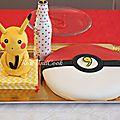 Un anniversaire pokemon - pikachu - pokeball {sweetable anniversaire facile }