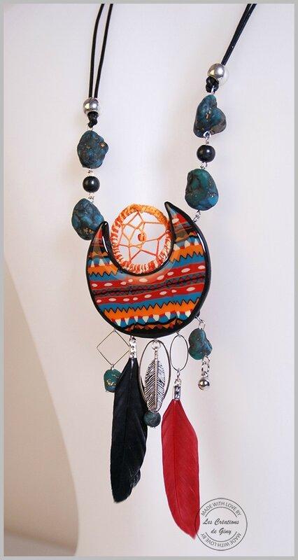 Crea-Giny-bijoux Amérindien-collier