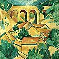 CUBISME 1908_Le viaduc à l'estaque_Braque
