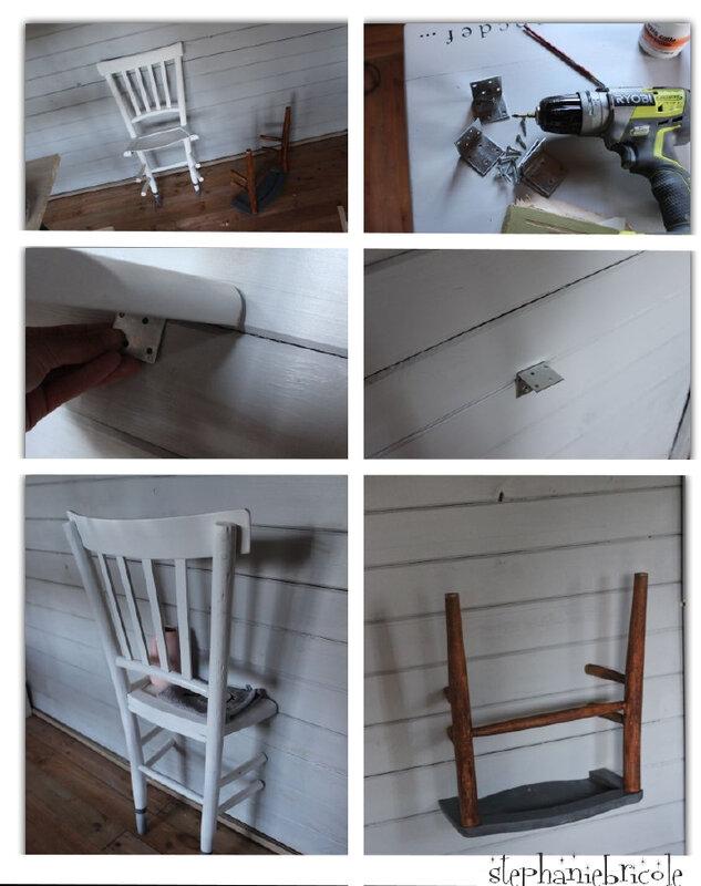 chaise récup bomber peinture diy
