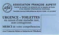 Carte urgence toilette