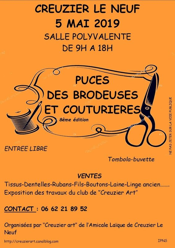 AFFICHES PUCES 2019 ABRICOT
