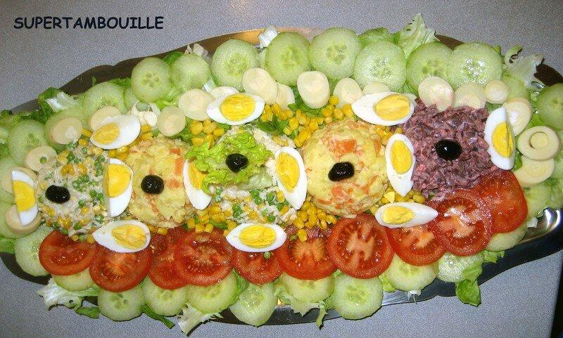 Ete Compose Par R Salade Composee Cocagnetires