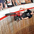 Demon drome wall of death - a truly awesome show with daredevil motorcycle riders (uk)