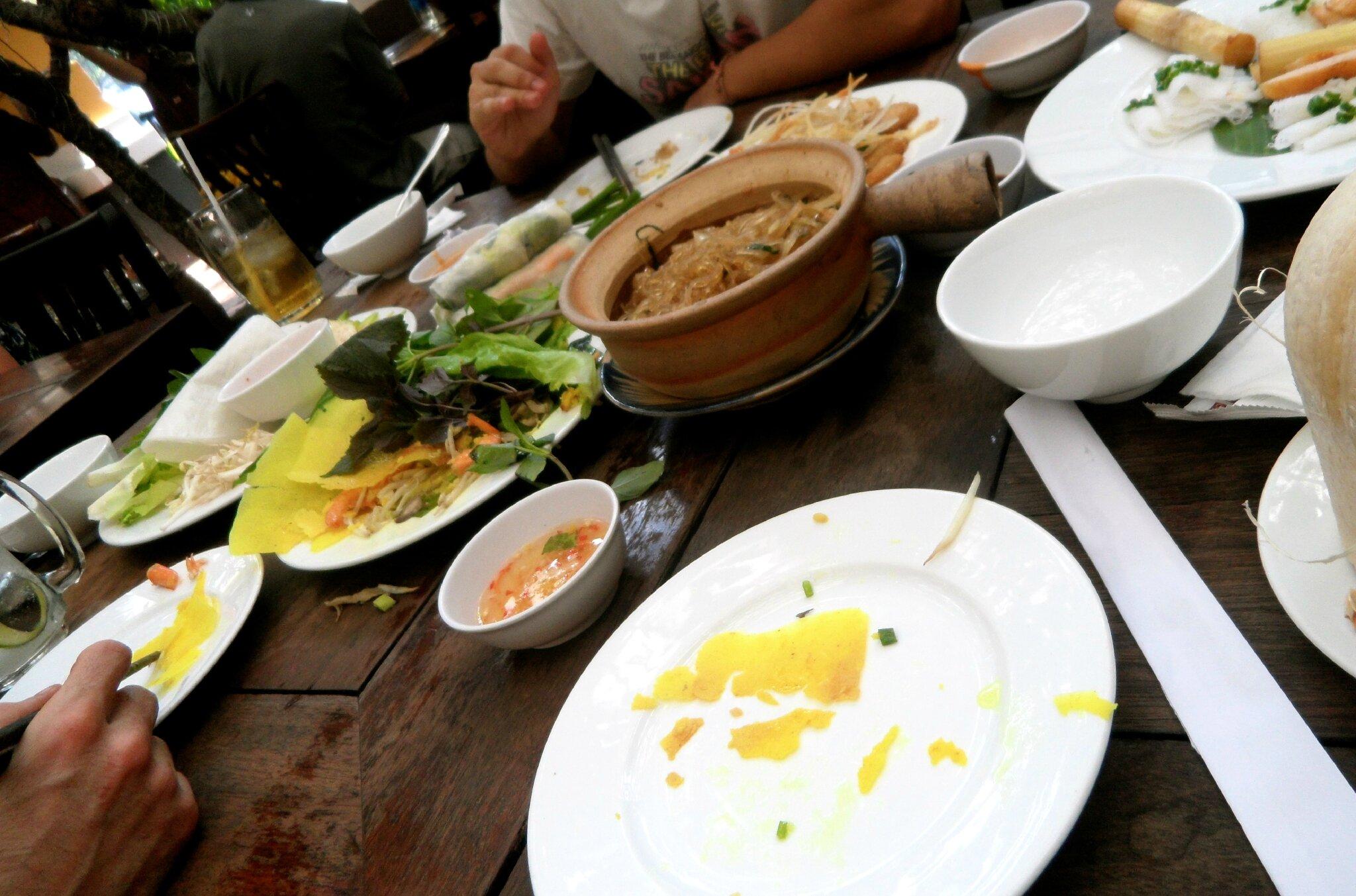 Premier repas partagé avec Jase