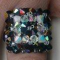 BAGUES perles de cristal
