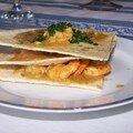 Millefeuilles de crevettes a l'indienne