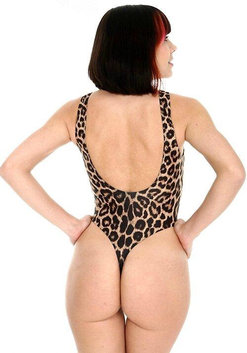 Body spandex string imprimé BDC42-1