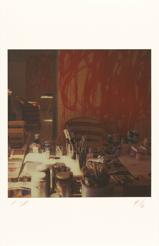 Cy Twombly_Studio (with Bacchus Painting) (Gaeta), 2003