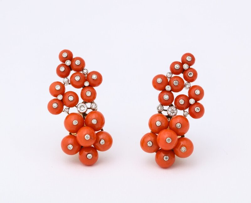 Coral_and_Diamond_Earrings_by_Cartier_Paris