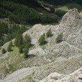 chemin calcaire Colmars (04)