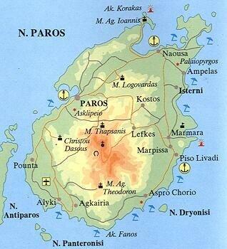 Carte des Cyclades - Le blog des bibi's