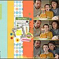 Un scrap anniversaire, toujours un moment important pour les enfants