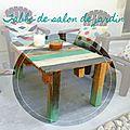 Vive la récup! la table basse de jardin en palette