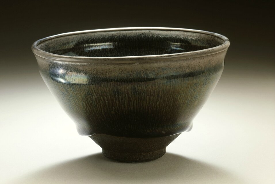 Tea Bowl (Chawan) with Hare's Fur Pattern, Southern Song dynasty, 1127-1279