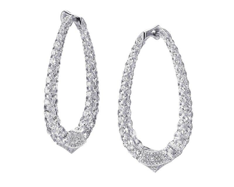 Boghossian-Les merveilles Boucles d'oreilles en or blanc et diamants - ©DIODE SA- DENIS HAYOUN
