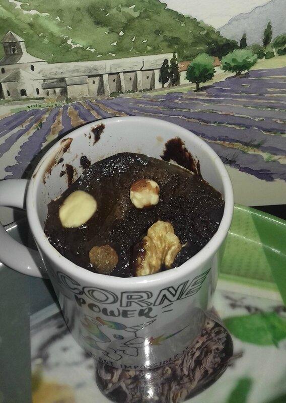 mug cake façon mendiant 13 desserts 24