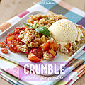 Crumble pêche-gingembre