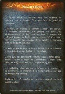 Licorne - Les licornes