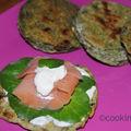 Craque pain suédois au cresson et saumon
