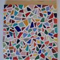 Dessous de plat en mosaïque