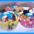 Cupcakes aux fruits rouge
