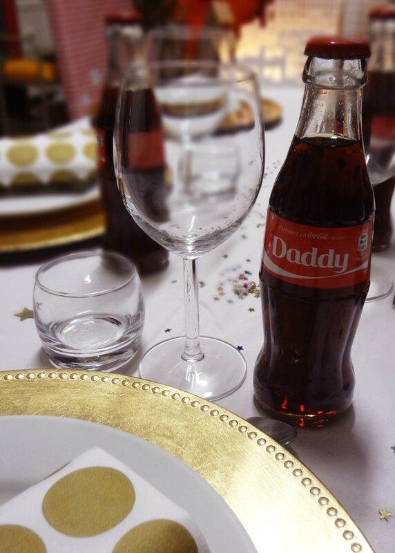 6-table de Noel-bouteille de coca personnalisée-deco de table-sapin ikéa-ville lumineuse