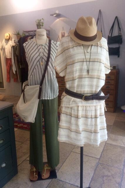top et jupe Teoh&lea pantalon soie belles matières soldes boutique avant après Montpellier