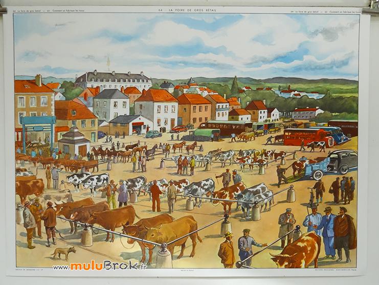 Affiche-Rossignol-FOIRE-GROS-BETAIL-1-muluBrok-Vintage