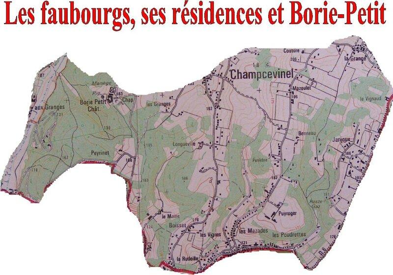 Les faubourgs Sud de la commune