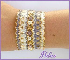 bracelet diva lavande blanc or 2