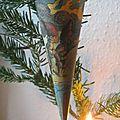 Cornet papier Noël danois