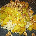 Lentilles corail aux poireaux accompagné de riz basmati