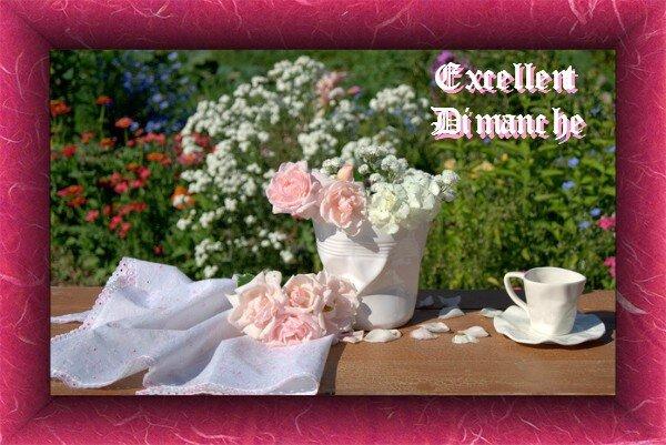 Bon Dimanche jardin tasse