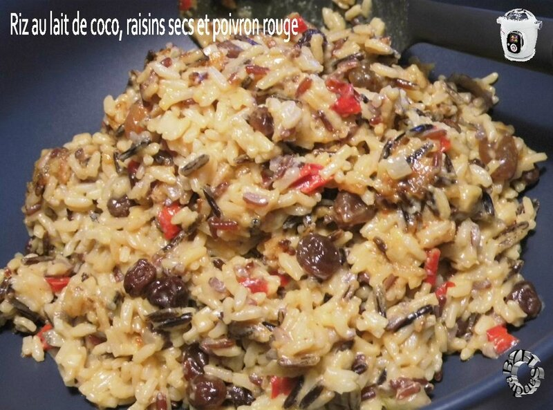 0603 Riz au lait de coco, raisins secs et poivron rouge CK
