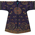 Three silk summer robes, late qing dynasty