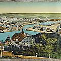 Collection... chromo panoramique * le tréport / mers les bains / evian / genève