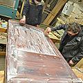 CAP ébéniste,Conservatoire Dynamique des Gestes Techniques,Peinture naturelle,cérusage,extraction des pigments,fabrication d une porte louis XIII,fabrication de la peinture a l huile,peinture à l'ancienne,vieillissement des bois part oxydation