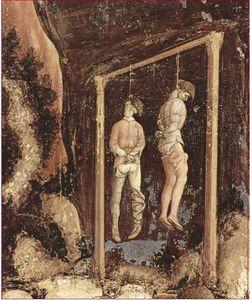 PISANELLO 1434-36 detail fresque de St Georges Verone église Sant'Anastasia