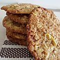 Cookies pommes & flocons d'avoine